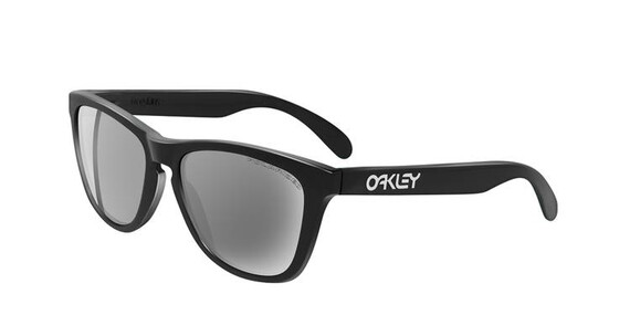 Oakley Frogskins Brille polished black/grey polarized